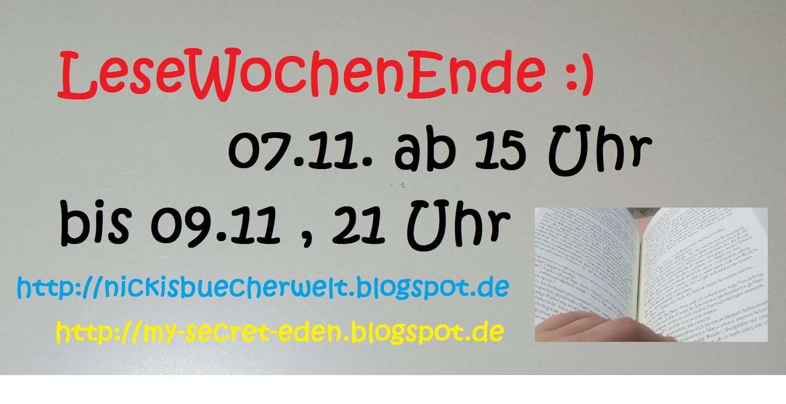 [Lesewochenende] 07.11.14 bis 09.11.14 – Tag #01