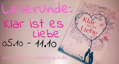 """[Leserunde] """"Klar ist es Liebe"""" 05. bis 11. Oktober"""